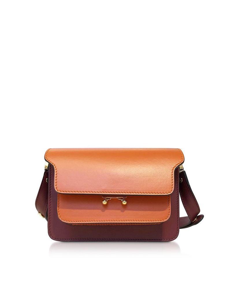 Marni Designer Handbags, Color Block Leather Small Trunk Bag