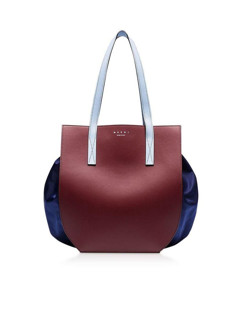 Marni Designer Handbags, Color Block Leather Tote Bag