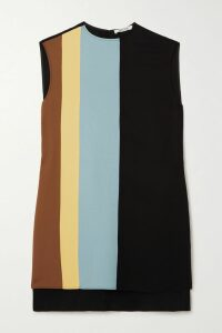 Brock Collection - Grosgrain-trimmed Ruched Cotton Top - Black