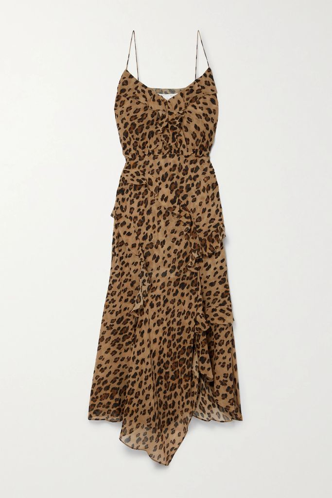 Burberry - Animal-print Stretch-jersey Top - Beige