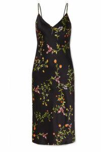 L'Agence - Jodie Floral-print Silk Crepe De Chine Dress - Black
