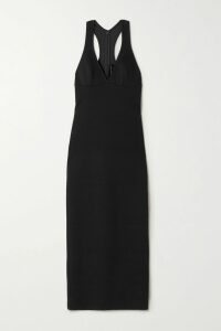 Miguelina - Liviona Ruffled Linen Wrap Skirt - Tomato red