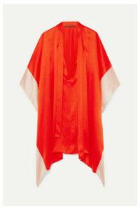 Haider Ackermann - Two-tone Silk-satin Kaftan - Orange