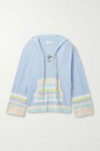 Oscar de la Renta - Embellished Silk-georgette And Tulle Gown - Light blue