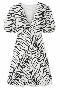 RIXO - Zanita Zebra-print Crepe De Chine Mini Dress - Zebra print