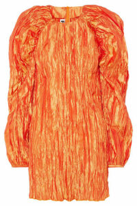 ROTATE Birger Christensen - Plissé-sateen Mini Dress - Orange