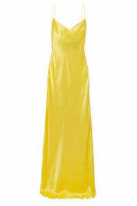 Rasario - Silk-satin Gown - Yellow