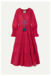 Figue - Bella Tiered Tasseled Cotton Maxi Dress - M/L
