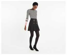 Button Kilt Skirt