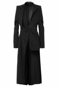 Alexander McQueen - Asymmetric Cutout Crepe Blazer - Black