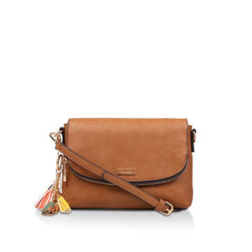Aldo Rentsch - Tan Cross Body Bag With Tassel Detail
