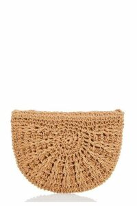 Quiz Tan Woven Cross Body Bag