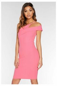 Quiz Pink Asymmetric Dress