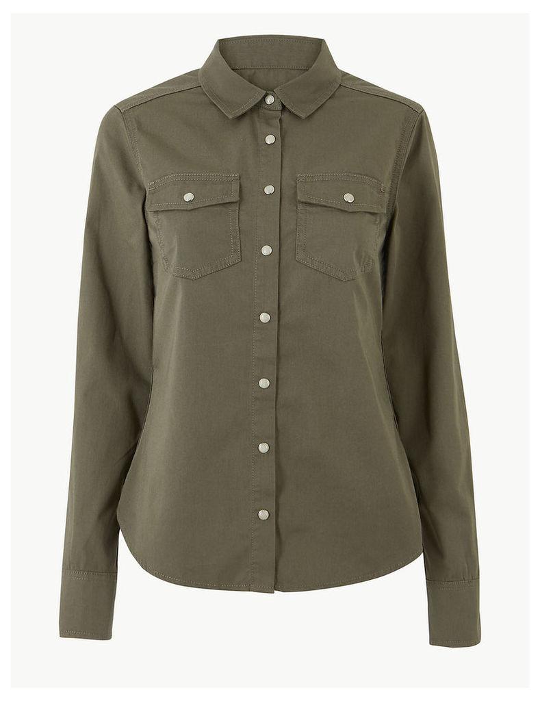 Per Una Pure Cotton Long Sleeve Shirt