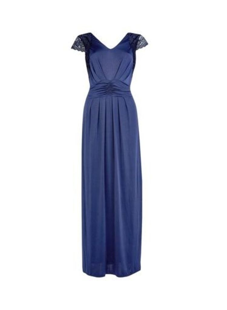 Womens **Showcase Navy Blue 'Tullulah' Maxi Dress- Blue, Blue