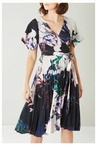 Womens Coast Blue Felicity Printed Pleat Dress -  Blue