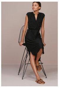 Womens Next Black Pocket Shirt Dress -  Black