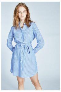 Womens Jack Wills Blue Chelseawood Stripe Shirt Dress -  Blue