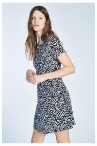 Womens Jack Wills Merriden Printed Fit Flare Dress -  Black