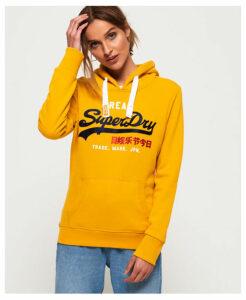 Superdry Vintage Logo Bonded Satin Hoodie