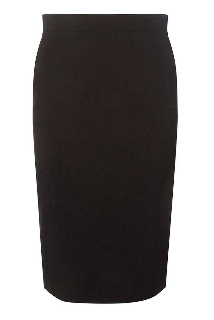 Womens Dorothy Perkins Bengaline Skirt -  Black