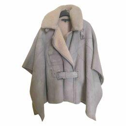 Leather dufflecoat