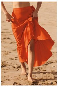 Womens Next Orange Wrap Skirt -  Orange