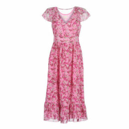 MICHAEL Michael Kors  ENCHANTED BLOOMS DR  women's Long Dress in Pink