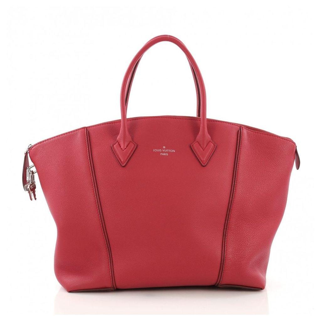 Lockit leather handbag