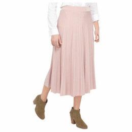 Lauren Vidal  Pleated skirt with lurex jersey knit  women's Skirt in Pink
