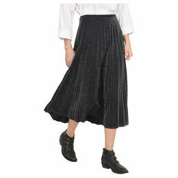 Lauren Vidal  Pleated skirt with lurex jersey knit  women's Skirt in Black
