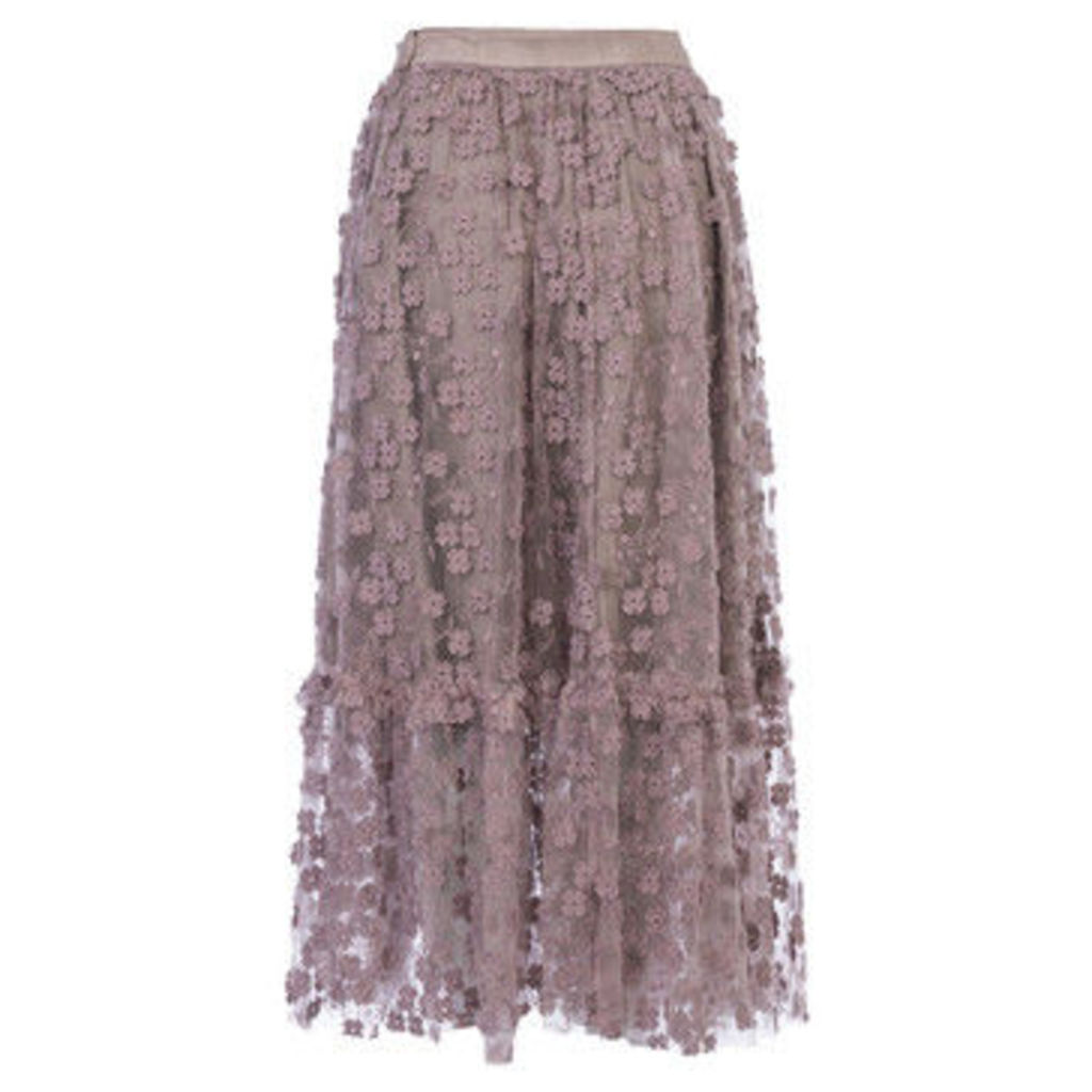 French Connection  Lace Skirt Elasticated waist  women's Skirt in Pink