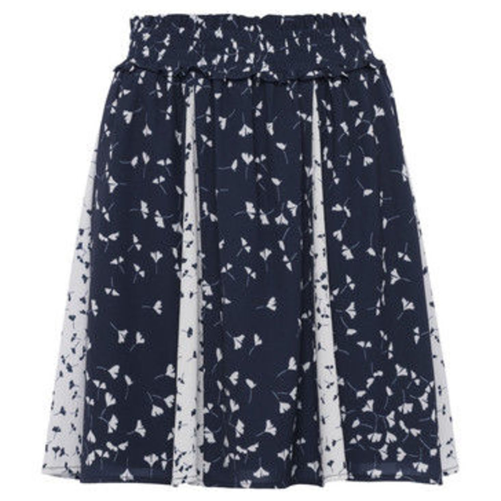 French Connection  Printed skirt Elasticated waist  women's Skirt in Blue