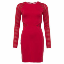 French Connection  Round Neck Long Sleeve Dress  women's Dress in Red
