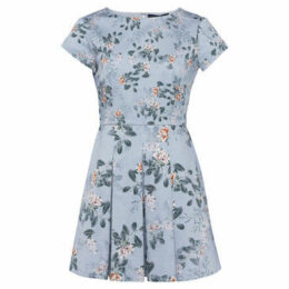 French Connection  Short Sleeve Round Neck Dress  women's Dress in Blue