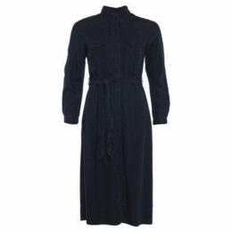 French Connection  Long sleeve jeans dress  women's Long Dress in Blue
