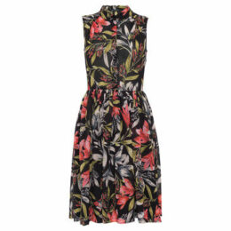 French Connection  Sleeveless floral dress  women's Dress in Black