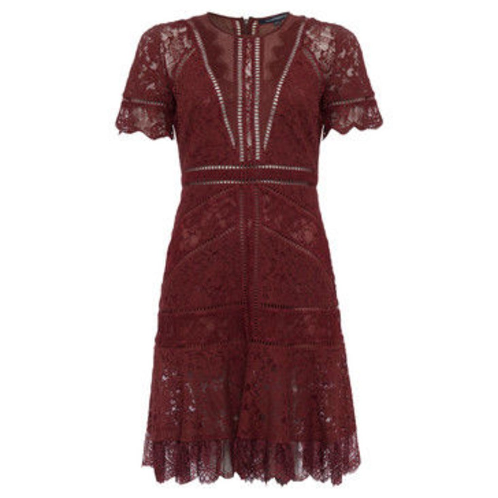 French Connection  Floral lace dress  women's Dress in Red