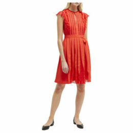 French Connection  Dress with floral lace  women's Dress in Orange