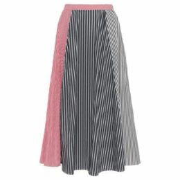 French Connection  Pleated skirt with stripes  women's Skirt in Black
