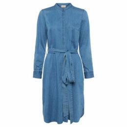 French Connection  Denim shirt dress  women's Dress in Blue