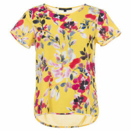 French Connection  Printed T-shirt Crew neck Short sleeves  women's T shirt in Yellow