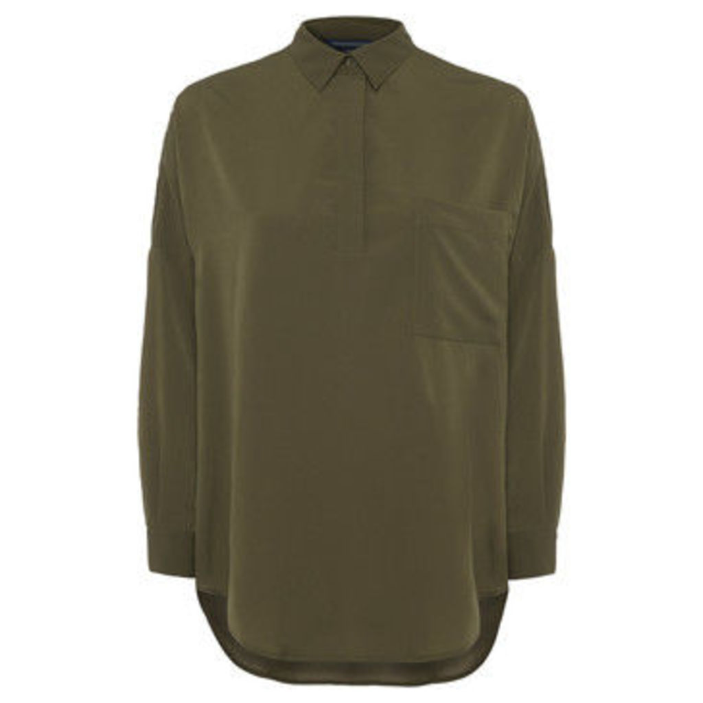French Connection  Shirt over long sleeves  women's Shirt in Green