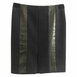 Exotic leathers skirt