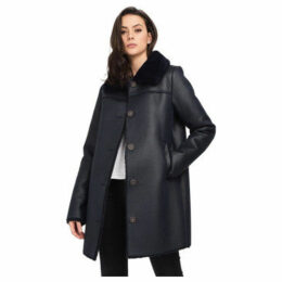 Oakwood  Long faux fur coat  women's Coat in Blue