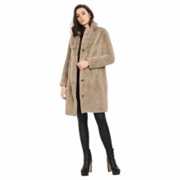 Oakwood  Faux fur coat  women's Coat in Beige