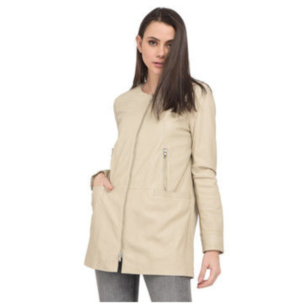 Oakwood  Sheepskin coat  women's Coat in Beige