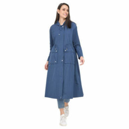 Oakwood  Long raincoat  women's Trench Coat in Blue