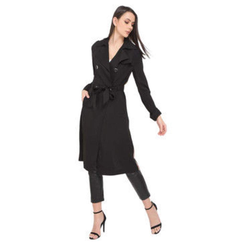 Oakwood  Curved trench coat, long sleeves  women's Trench Coat in Black