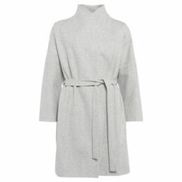French Connection  Cashmere coat with long sleeves  women's Coat in Grey